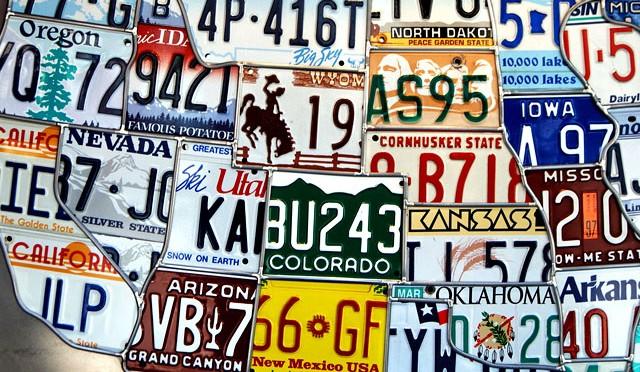U.S. license plate mosaic