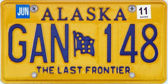 Alaska U.S. license plate