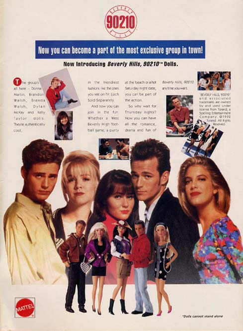 Retrotisement Beverly Hills 90210 Dolls