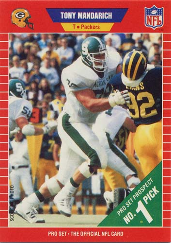 Tony Mandarich 1989 Pro Set football card