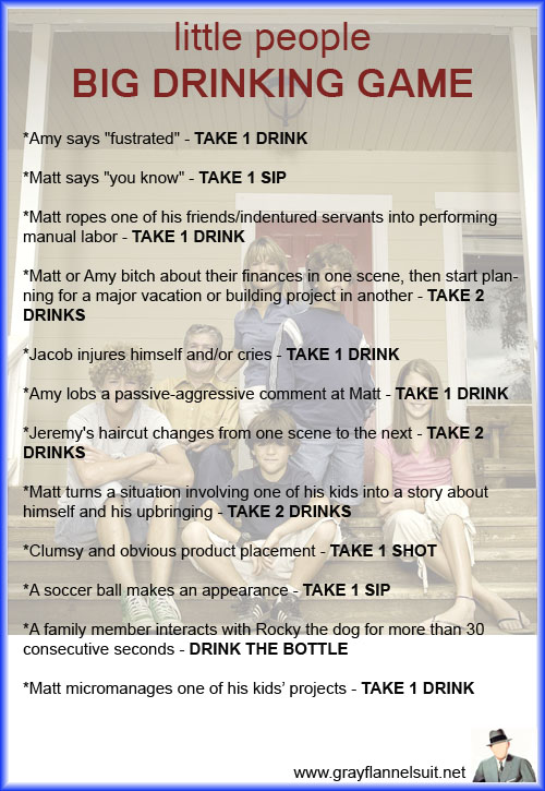 Little People, Big World drinking game