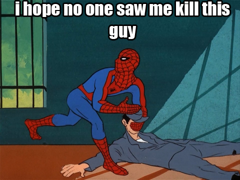 Retro Spider-Man kills a guy
