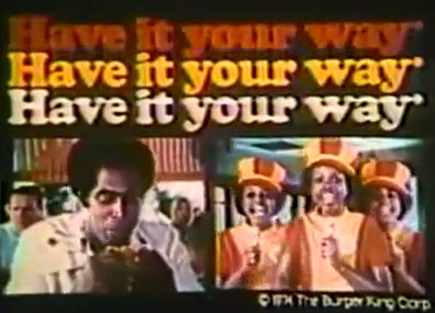 "Burger King 1974 ""Have It Your Way"" commercial"