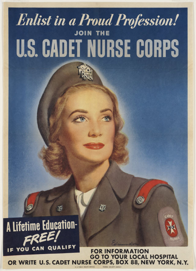 World War II recruitment poster - U.S. Cadet Nurse Corps