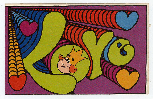 "1972 Burger King ""Love"" Valentine's Day postcard"