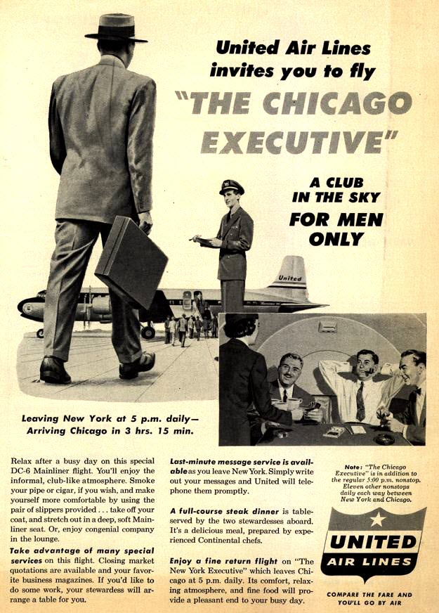 United Air Lines — Fly the Manly Skies!