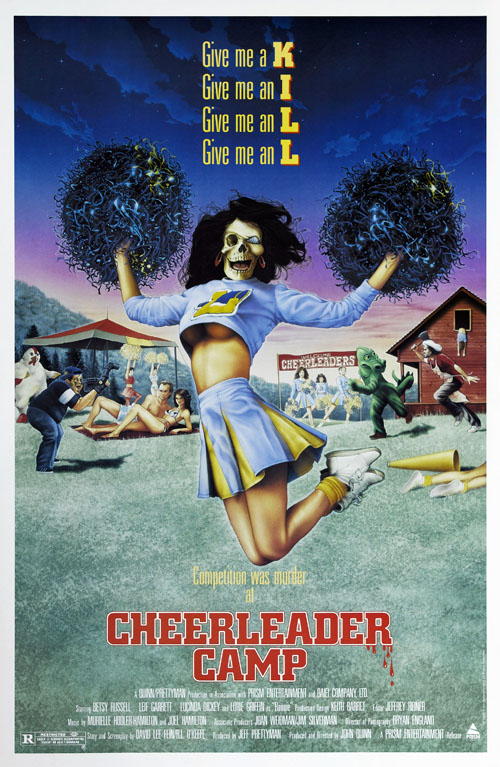 Cheerleader Camp (1988) slasher movie poster