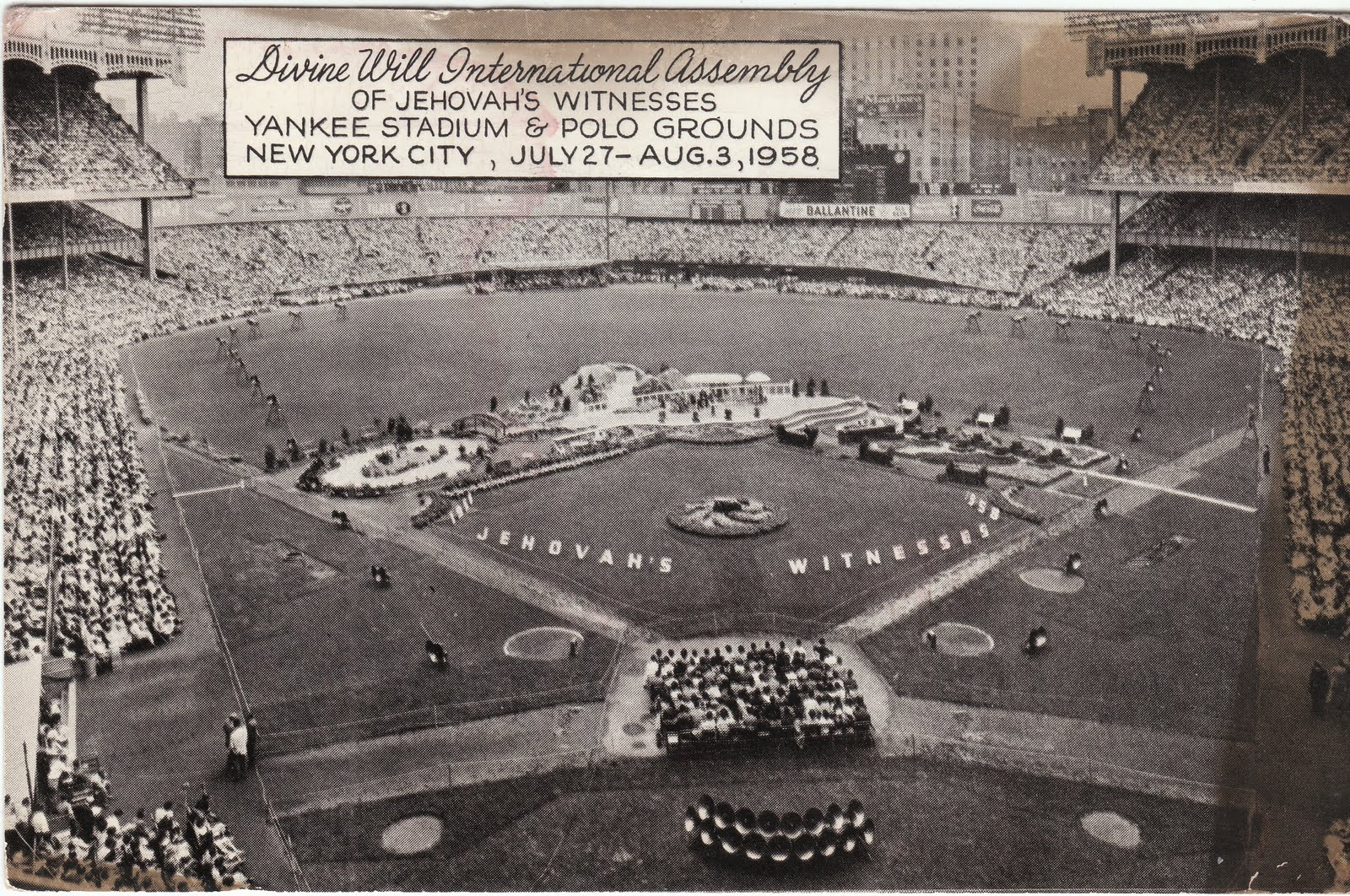 The 1958 convention was split between Yankee Stadium and the nearby