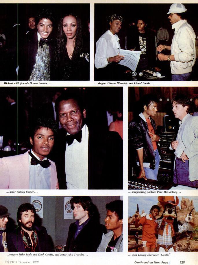 Michael Jackson 1982 Ebony Magazine Spotlight