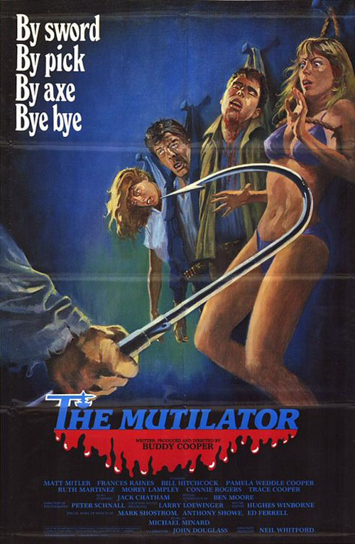 The Mutilator (1985) horror movie poster