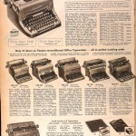 Sears Catalog, Spring/Summer 1958 - Typewriters