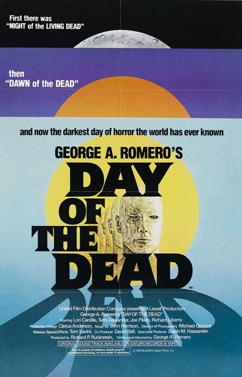 Day of the Dead (1985) horror movie poster