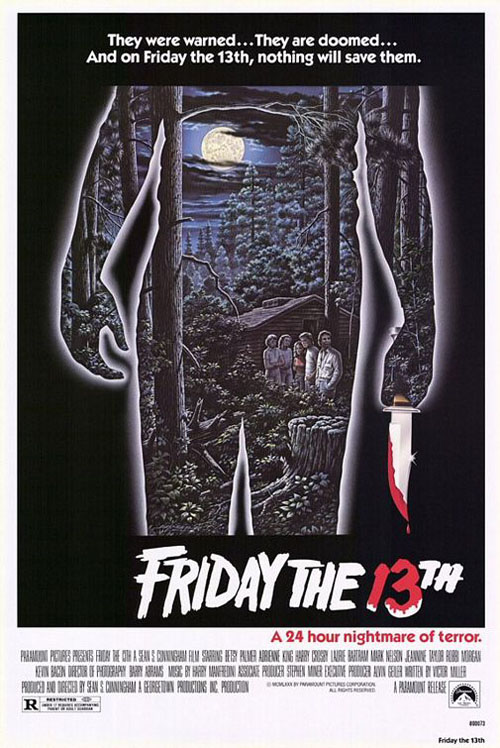 Friday the 13th (1980) horror movie poster