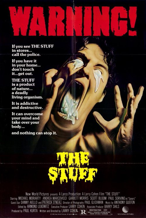 The Stuff (1985) horror movie poster