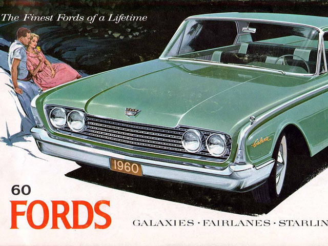 advertisements for the 1960 ford new car lineup | grayflannelsuit
