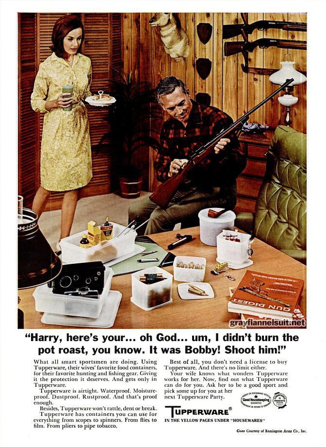Classic (Unused) 1969 Tupperware Advertisement