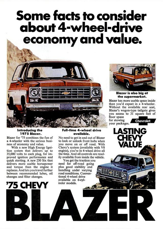 1975 Chevrolet New Car and Truck Advertisements ...