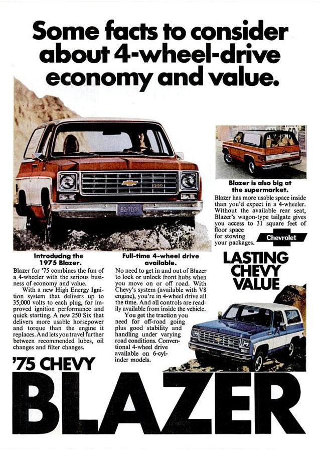 1975 Chevrolet Blazer ad