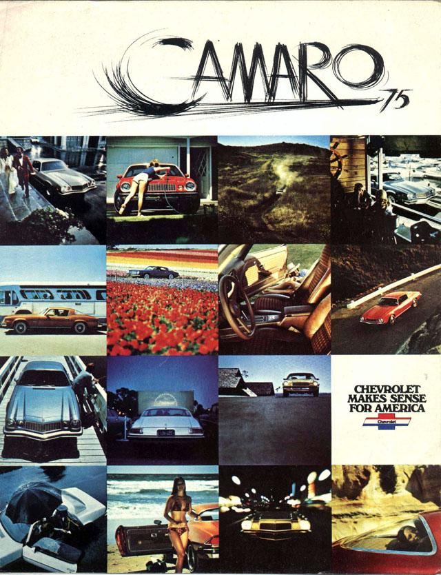 1975 Chevrolet Camaro brochure scan
