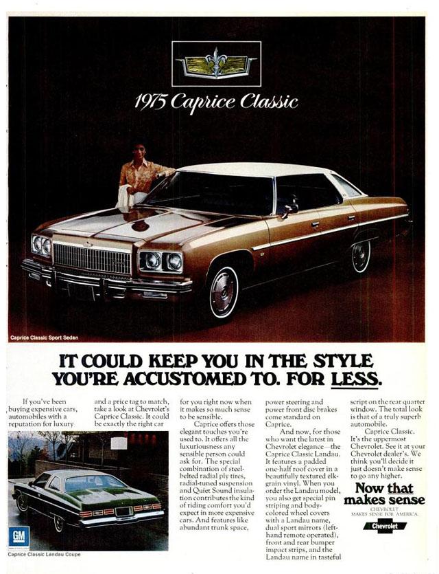 1975 Chevrolet Caprice Classic ad