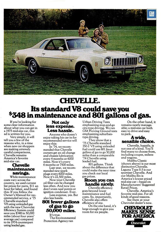 1975 Chevrolet Chevelle ad