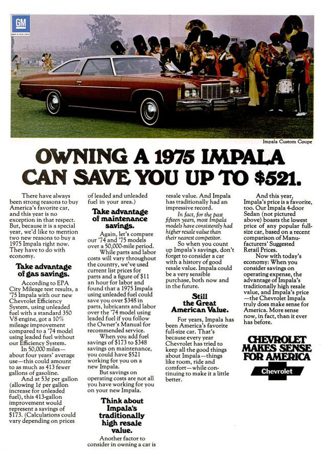 1975 Chevrolet Impala ad