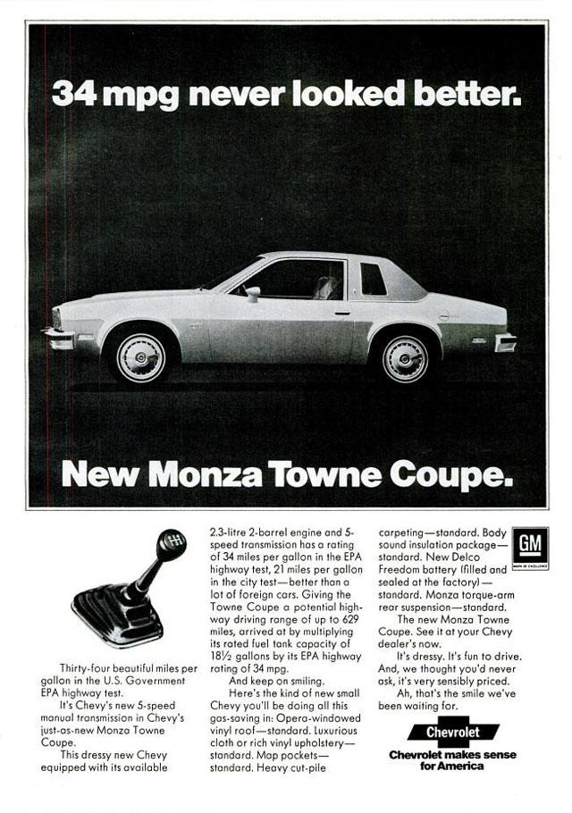 1975 Chevrolet Monza ad