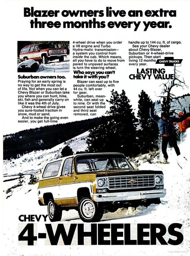 1975 Chevrolet 4-Wheel Trucks ad