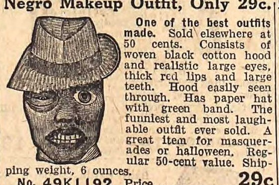 """Racist """"Negro Makeup Outfit"""" - Fall 1912 Sears Catalog"""