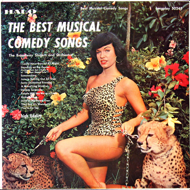 Four Classic Bettie Page Album Covers — Two Old, Two New