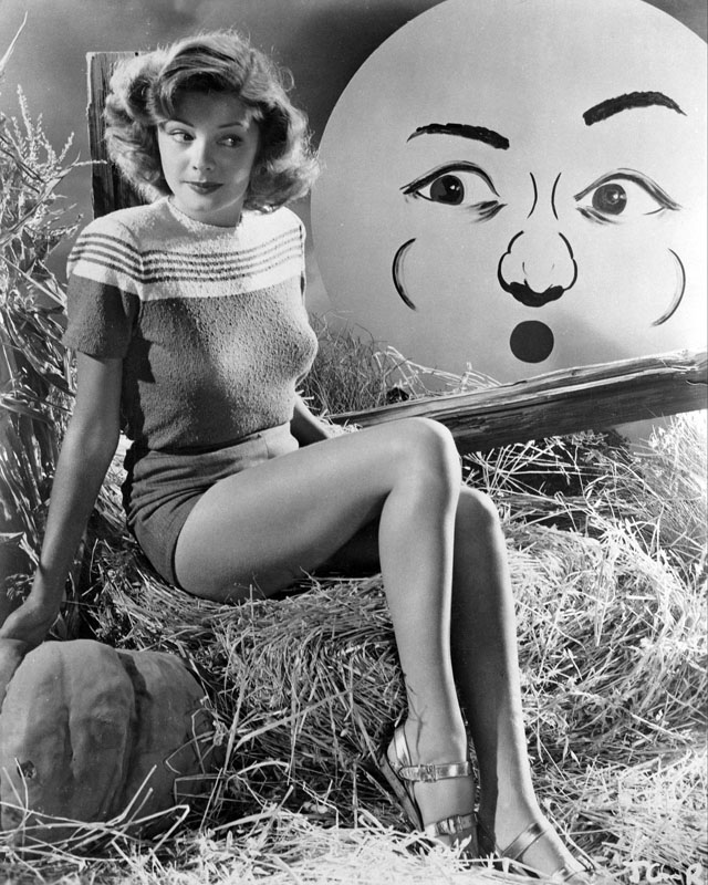 Vintage Halloween Hollywood Actress Pin-Up - Jane Greer