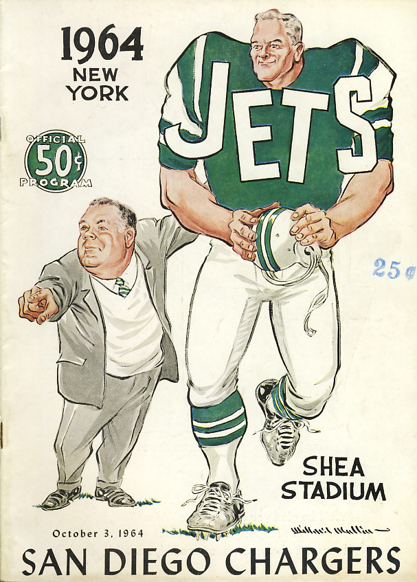 San Diego Chargers at New York Jets - October 3, 1964