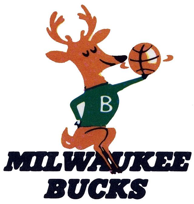 Milwaukee Bucks primary logo (1968 - 1993)