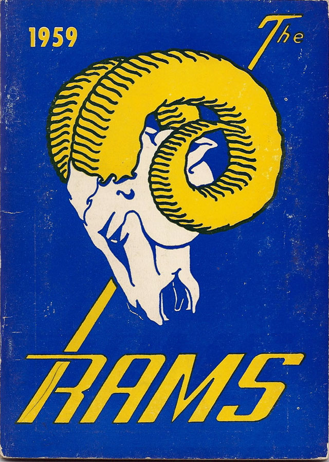NFL Media Guide/Yearbook cover - Los Angeles Rams 1959