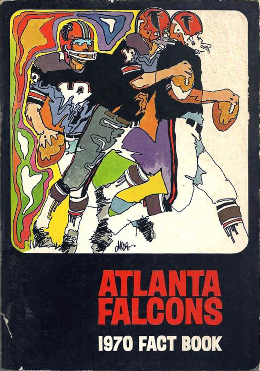 NFL Media Guide/Yearbook cover - Atlanta Falcons 1970