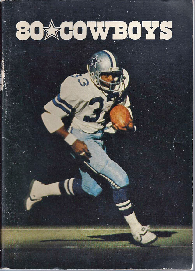 NFL Media Guide/Yearbook cover - Dallas Cowboys 1980 (Tony Dorsett)