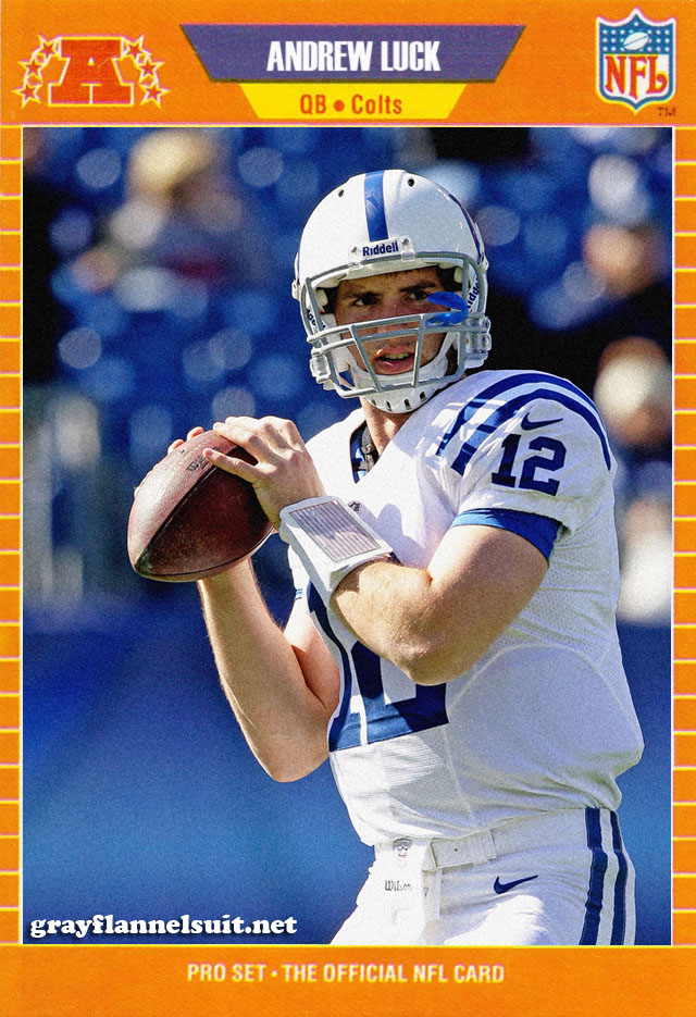 Retro Football Card - Andrew Luck, Indianapolis Colts QB