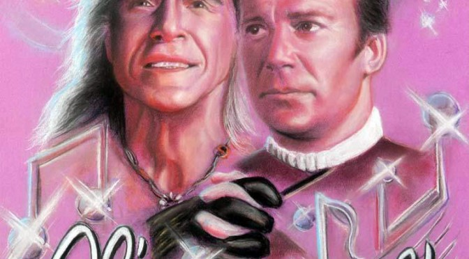 Star Trek pastel painting - Khan and Kirk