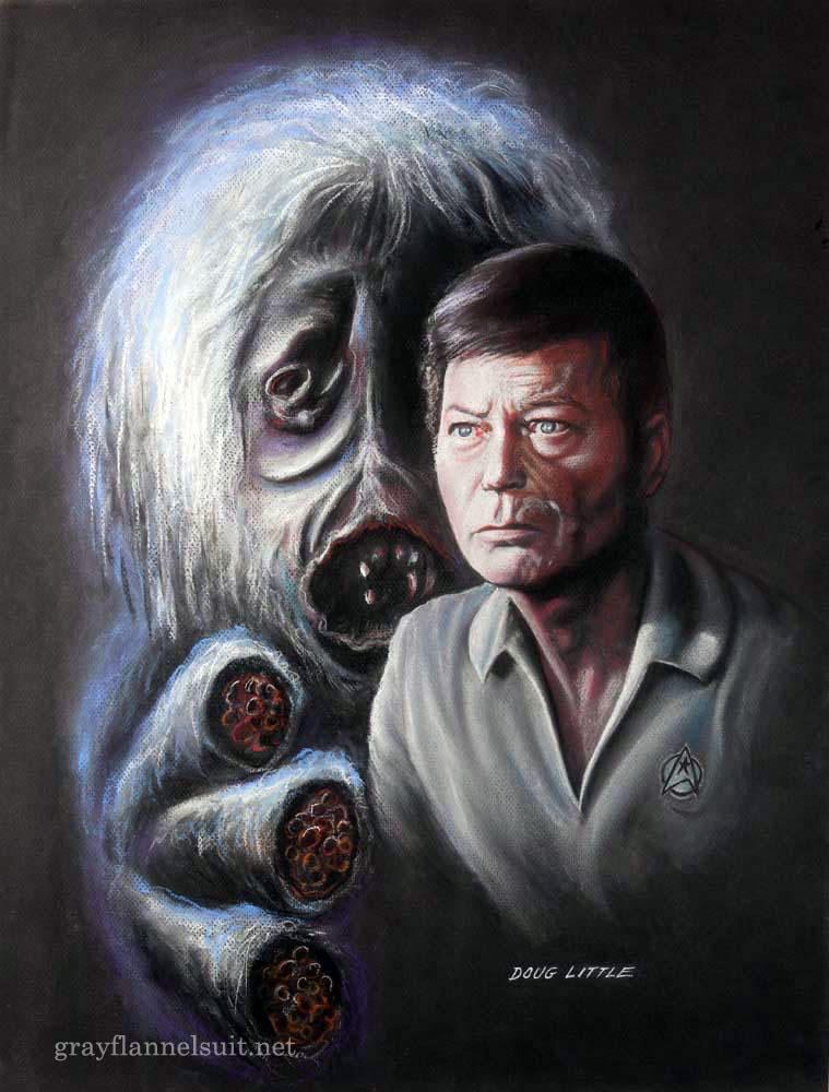 Star Trek pastel painting - The Man Trap