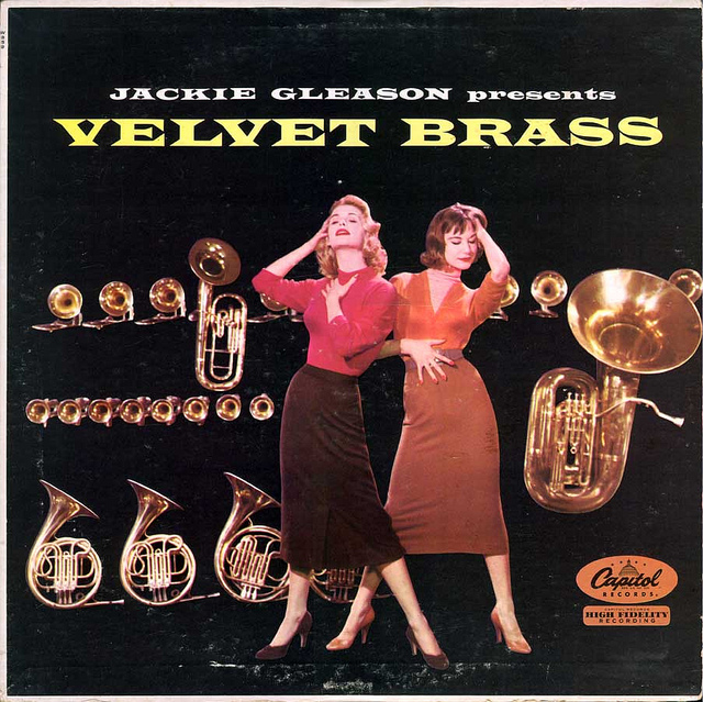 Jackie Gleason Presents Velvet Brass album cover.