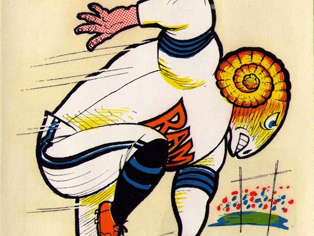 Football Friday: Vintage 1969 AFL/NFL Team Mascot Decals