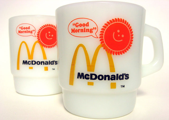 McDonald's promotional breakfast mugs, c. 1970s