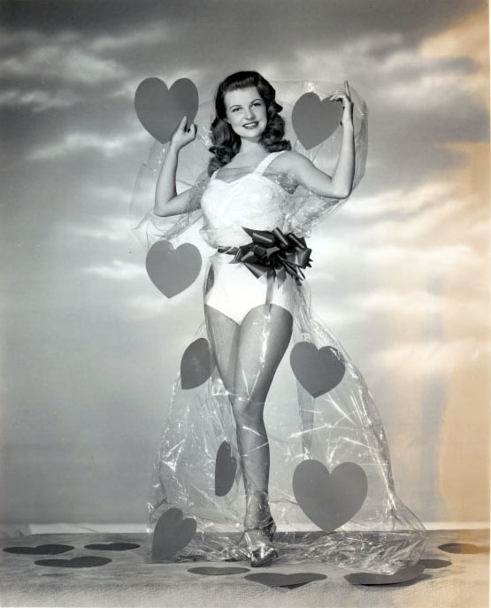 rhonda fleming vintage valentines day pin up mary castle - Vintage Valentines Day