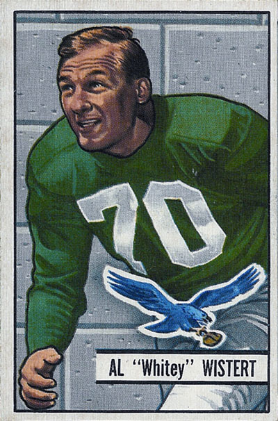 Al Wistert 1951 Bowman football card
