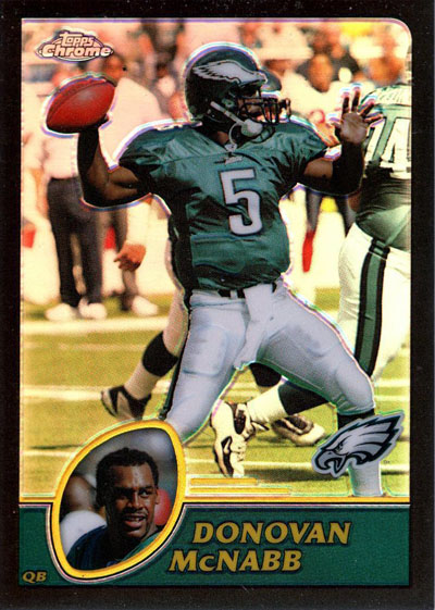 Donovan McNabb 2003 Topps football card