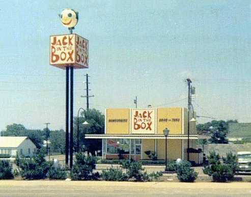 Jack in the Box burger location, circa 1968
