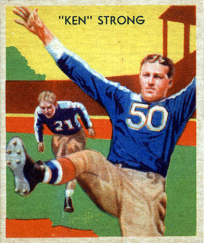 Ken Strong 1935 National Chicle football card