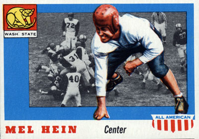Mel Hein 1955 Topps football card