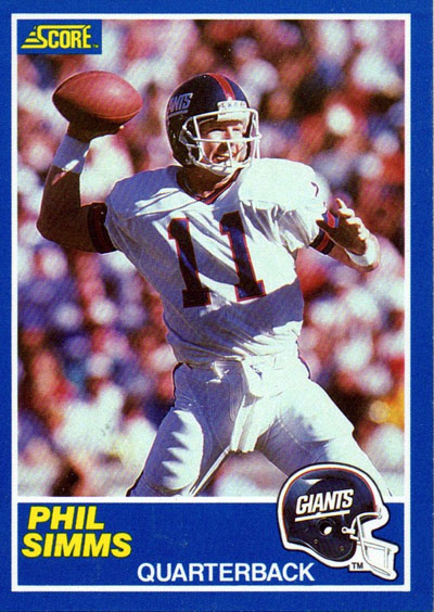 Phil Simms 1989 Score football card