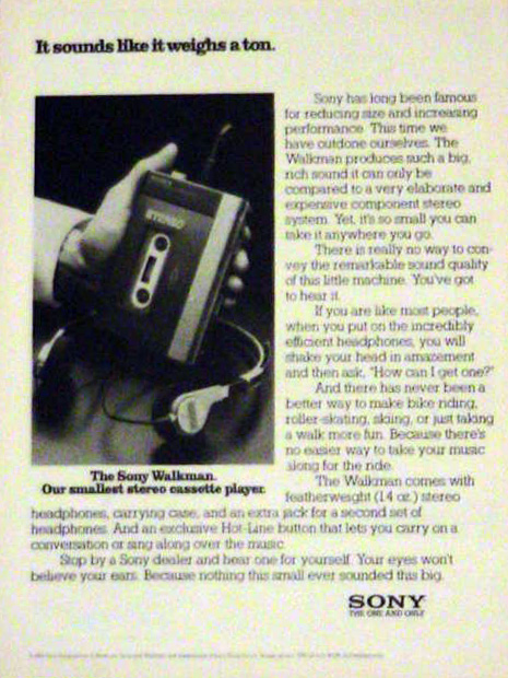 Sony Walkman ad - 1980